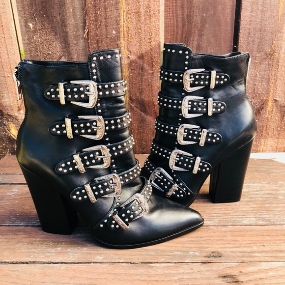 34f24646fc3 Steve Madden layered buckle Booties NWOB